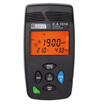 C.A 1510 CO2, Temperatur, Luftfeuchte Recorder, schwarz