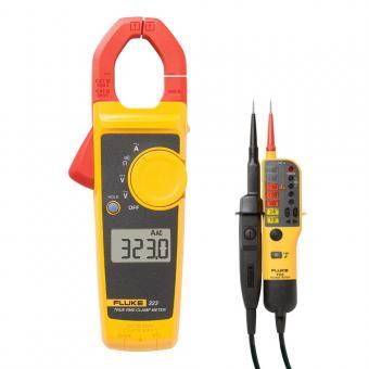 Pince multimètre TRMS Fluke 323 + Testeur de courant T110 GRATUIT