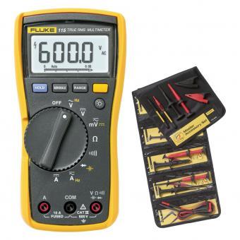 Digitalmultimeter Fluke 115 mit SureGrip™-Masterzubehörsatz TLK-225