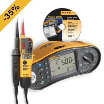 Multifunktions-Installationstester Fluke 1664 FC + Fluke T150 und DMS-Software gratis