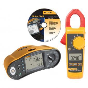 Multifunktions-Installationstester Fluke 1663 + Stromzange Fluke 324 und DMS-Software gratis