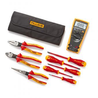 Multimètre numérique TRMS Fluke 179 + kit de démarrage d'outils portables isolés GRATUIT