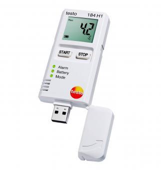 Datenlogger Luftfeuchtigkeit und Temperatur testo 184 H1 für Transportüberwachung