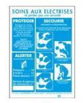 Aluminium und Kunststoff Poster für SOINS AUX ELECTRISE und ACCIDENT ELECTRIQUE CONDUITE A TENIR
