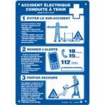 Alu-Schild Accident électrique conduite à tenir