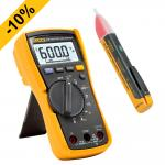 Echteffektiv-Multimeter FLUKE 115 mit Wechselspannungsprüfer 1AC-II GRATIS